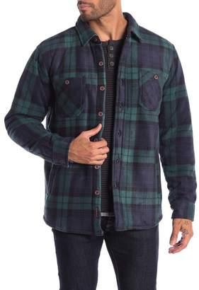 Weatherproof Vintage Faux Shearling Lined Plaid Print Polar Fleece Shirt Jacket