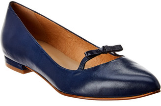 French Sole Cabo Leather Flat