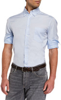 Brunello Cucinelli Men's Basic Fit Solid Sport Shirt with Button-Down Collar
