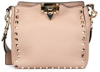 Valentino Rockstud Leather Hobo Bag