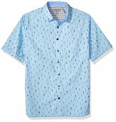Geoffrey Beene Men's Big and Tall Easy Care Short Sleeve Button Down Shirt