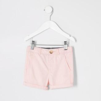 River Island Mini boys Pink smart chino shorts