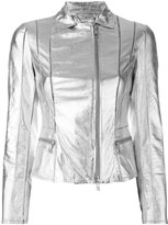 Desa Collection - metallic jacket - women - Suede/Polyester/Spandex/Elastane - 36