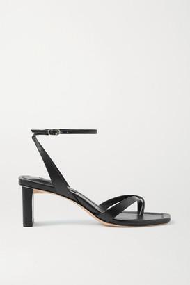 Alexandre Birman Nelly Leather Sandals - Black