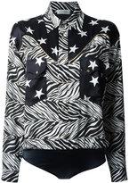 Faith Connexion star and zebra print shirt - women - Silk/Cotton/Polyester/Spandex/Elastane - 36