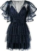 Alberta Ferretti ruffle trim mini dress