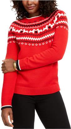 Charter Club Petite Fair-Isle Crewneck Sweater