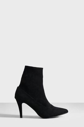 boohoo Basic Stiletto Heel Sock Boots