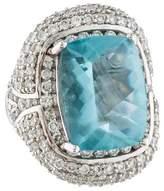 Ring Aquamarine & Diamond Cocktail