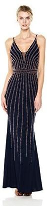 Xscape Evenings Women's V-Neck Beaded Dress