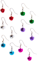 Carole Red & Purple Jingle Bell Six-Pair Drop Earrings Set