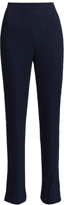 St. John Variegated Ribbed Side Slit Pants