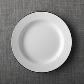 Crate & Barrel Black Rim Enamelware Dinner Plate