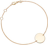 Astley Clarke Engravable 14ct gold disc bracelet