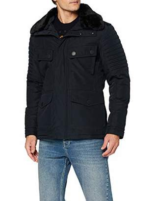 Lights of London Men's 028 Quilted Long Sleeve Jacket - Blue - X-Large