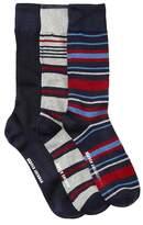 Ben Sherman Engineered Brenton Stripe Socks - Pack of 3