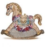 Judith Leiber 'Rocking Horse Penelope' crystal pavé minaudière