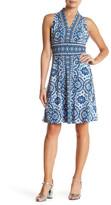London Times V-Neck Jersey Dress (Petite)