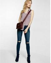 Express Slim Fit Thick Stripe Portofino Shirt