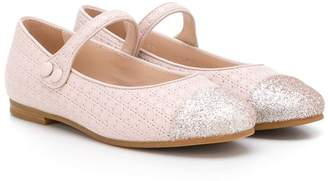 Christian Dior Glitter Toe Ballerina Shoes