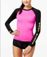 Body Glove Juniors' 80s Throwback Colorblocked Long-Sleeve Rash Guard Women's Swimsuit
