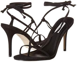 Steve Madden Status Heeled Sandal (Black Nubuck) Women's Shoes