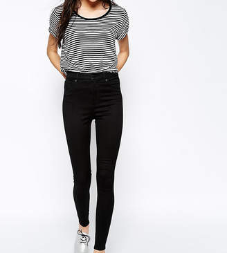 Monki Oki Deluxe slim high waist jeans with organic cotton in deep black