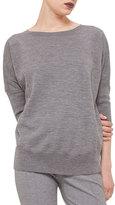 Akris Punto Dolman-Sleeve Slub-Knit Sweater