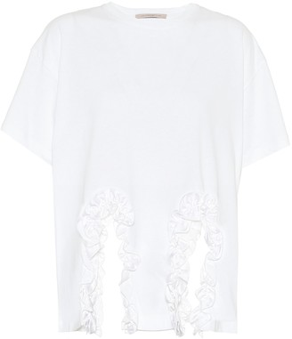 Christopher Kane Ruffled cotton T-shirt