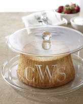 Horchow Monogrammed Cake Plate With Dome