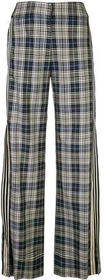 Monse Racing Stripe Vintage Plaid Trousers