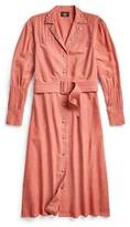 Thumbnail for your product : Double RL Ralph Lauren Studded Cotton-Linen Shirtdress