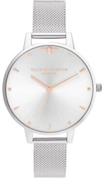 Olivia Burton Women's Queen Bee Stainless Steel Mesh Bracelet Watch 38mm