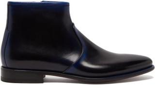 Santoni Bohemian Leather Chelsea Boots - Black