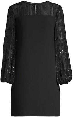 Trina Turk Airie Sequin Illusion Shift Dress