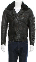 Andrew Marc Shearling-Trimmed Leather Jacket w/ Tags
