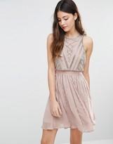 Asos WEDDING Crop Top Embellished Mini Dress