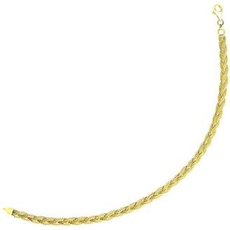 Mayamila 14k Yellow Gold Braided Style Fox Chain Bracelet
