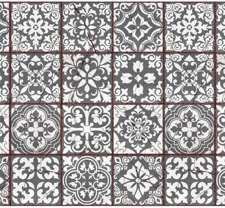 15 x 15 cm Vintage Cracked Design Medieval Tiles Wall Stickers Classic Decals