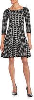 Gabby Skye Round Neckline Printed Dress