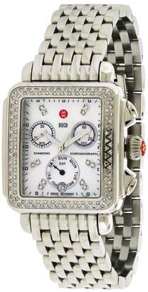 Michele Women's Stainless Steel Diamond Watch