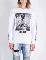 Justin Bieber Purpose Tour Album art cotton-jersey top