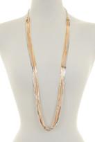 Natasha Accessories Mixed Metal Layered Chain Necklace