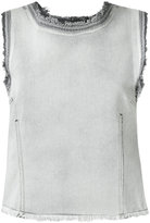 Golden Goose Deluxe Brand denim tank - women - Cotton - S