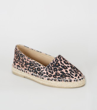 New Look Girls Leopard Print Espadrilles