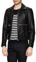 The Kooples Leather Spread Collar Jacket