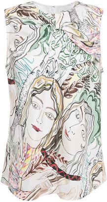 3.1 Phillip Lim Twist-front Printed Silk-twill Top