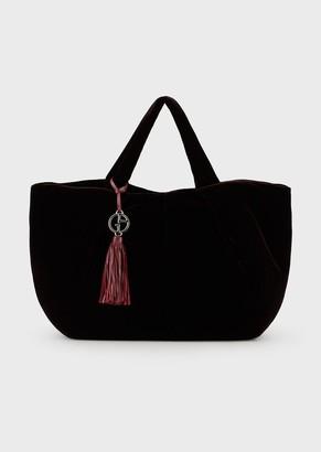 Giorgio Armani Velvet Shopper Bag With Inverted Seams