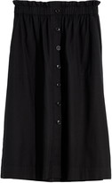 Madewell Paperbag Button-Front Midi Skirt