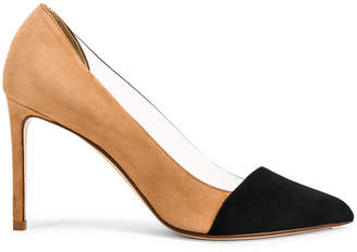 Francesco Russo Two Tone PVC Heels in Black & Camel | FWRD